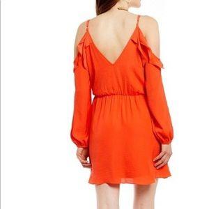 GB Gianni Bini Cold shoulder Faux Wrap Dress Sz S